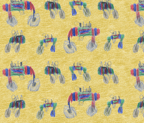 bubbie's go-fast motorcycles fabric by weavingmajor on Spoonflower - custom fabric
