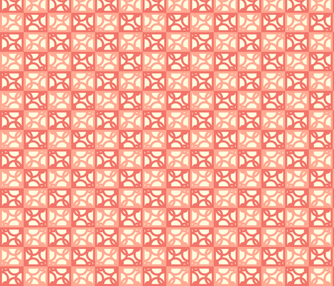 Irongrille_terracotta fabric by goldentangerinedesigns on Spoonflower - custom fabric