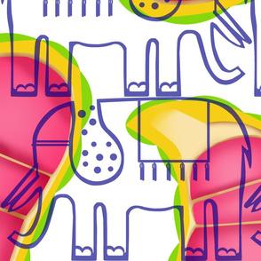 elephant & large kola paisley