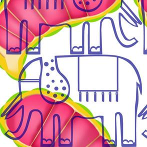 elephant & small kola paisley
