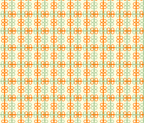 Ironspecs_in tangerine fabric by goldentangerinedesigns on Spoonflower - custom fabric