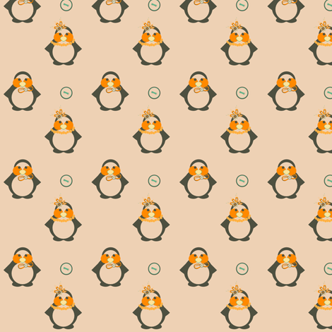 Mr. & Mrs. Penguin fabric by eppiepeppercorn on Spoonflower - custom fabric