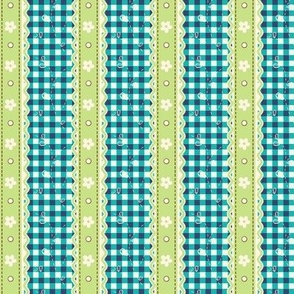 Green Lace Gingham
