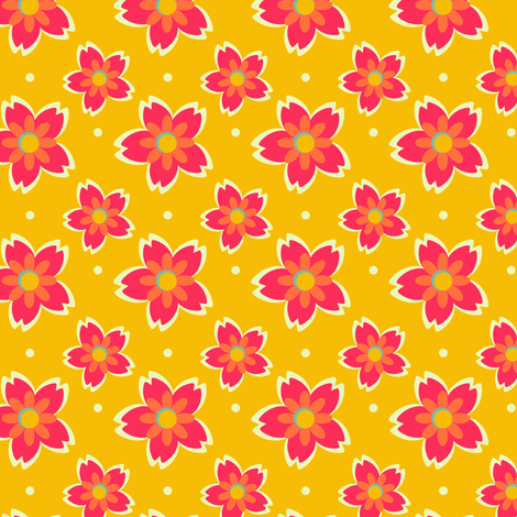 Happy Flowers fabric by eppiepeppercorn on Spoonflower - custom fabric