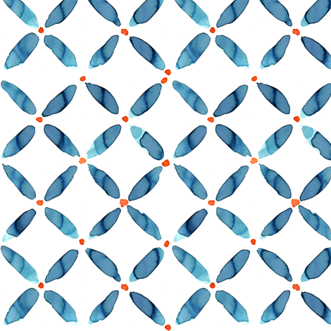 Water Lattice fabric by alicia_vance on Spoonflower - custom fabric