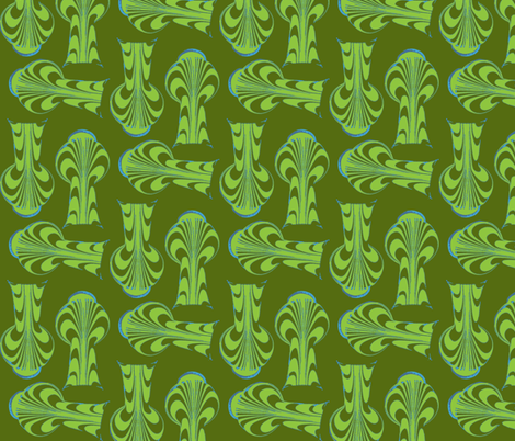 Green thumb fabric by nalo_hopkinson on Spoonflower - custom fabric