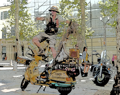 Motorcycle Performance Art in Aix-en-Provence, France - 2-ed