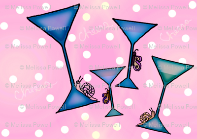 pink and blue cheers garden party