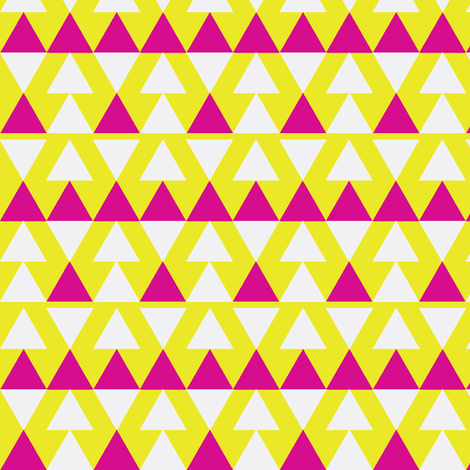Pink Triangles on Yellow fabric by stoflab on Spoonflower - custom fabric