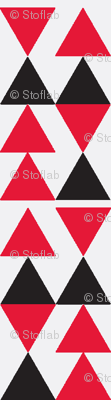 Red & Black Triangles on White