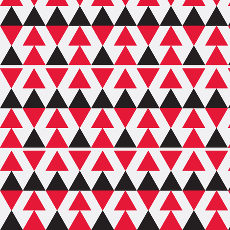 Red & Black Triangles on White fabric by stoflab on Spoonflower - custom fabric