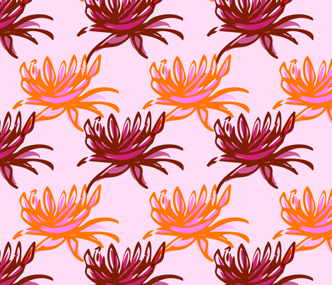 hand drawn flowers fabric by meredithjean on Spoonflower - custom fabric