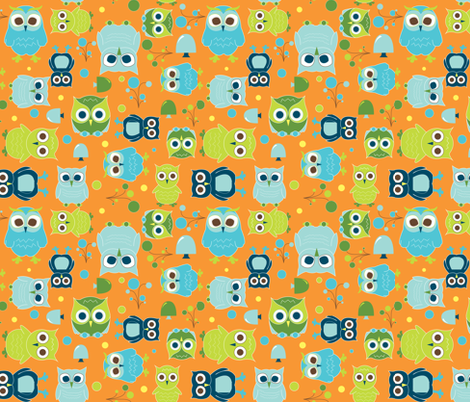 Hoot! fabric by aimeemarie on Spoonflower - custom fabric