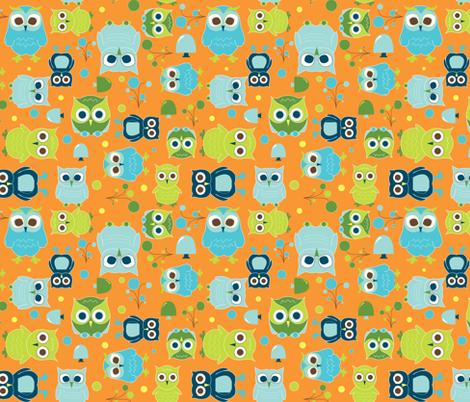 Hoot! fabric by aimeemarie on Spoonflower - custom fabric