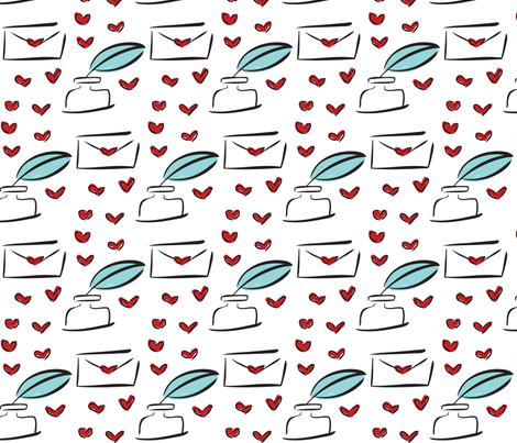 Love Letters fabric by stefaniedean on Spoonflower - custom fabric