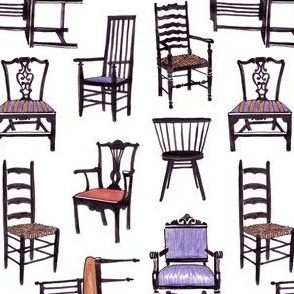 Vintage Chairs - Handrawn