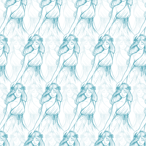 Mother-Daughter fabric by siya on Spoonflower - custom fabric