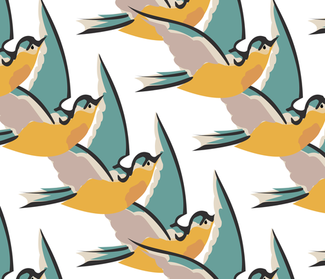 flight of birds fabric by meredithjean on Spoonflower - custom fabric