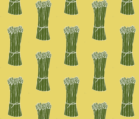 Asparagus fabric by designkat on Spoonflower - custom fabric