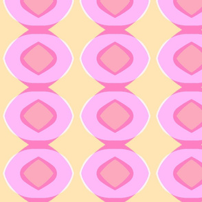 Circle Plaid (pink, blush & sunshine)