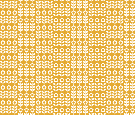 Golden Flower fabric by mondaland on Spoonflower - custom fabric