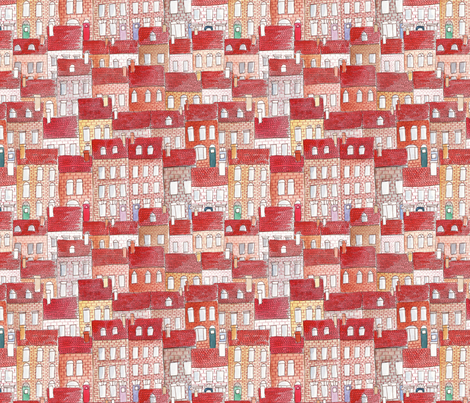 city in colors M fabric by nadja_petremand on Spoonflower - custom fabric