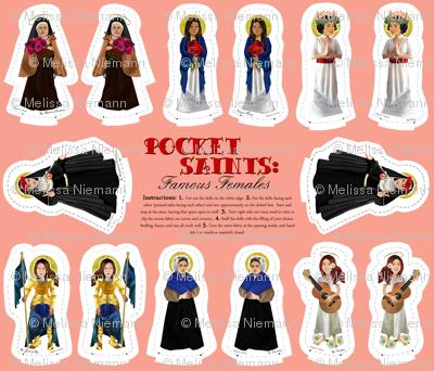 Pocket Saints Plushies : Famous Females