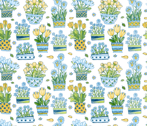 bouquets fabric by katja_saburova on Spoonflower - custom fabric