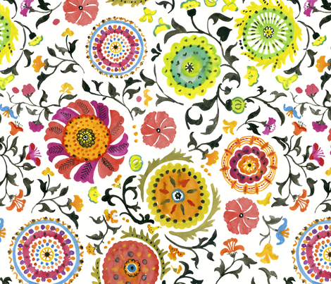 Bukhara fabric by chulabird on Spoonflower - custom fabric