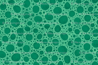 bone micrograph in green