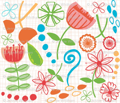 hand drawn flowers version 2
