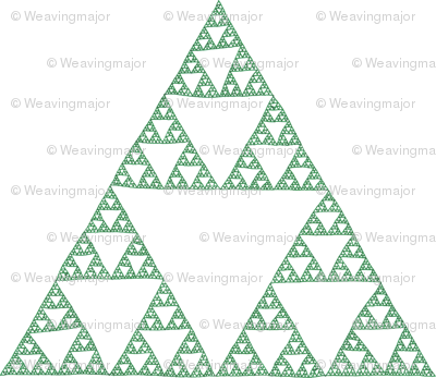 Sierpinski Triangle - green on white