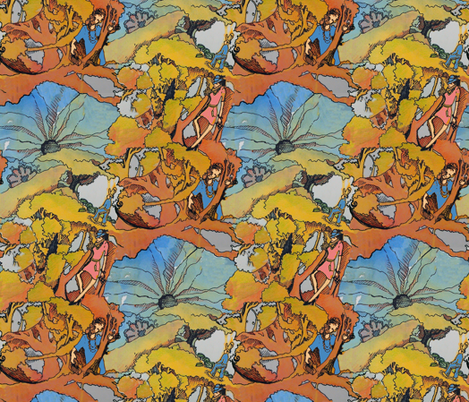 Climb Through the Tangled Forest fabric by that's_artrageous on Spoonflower - custom fabric