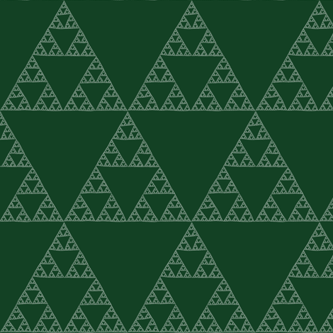 Sierpinski Triangle - chalkboard fabric by weavingmajor on Spoonflower - custom fabric