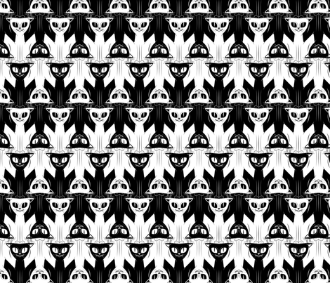 Cat Tessellation fabric by elusiveillusion on Spoonflower - custom fabric