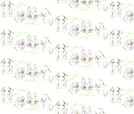 Frolicking Madcow fabric by sparegus on Spoonflower - custom fabric