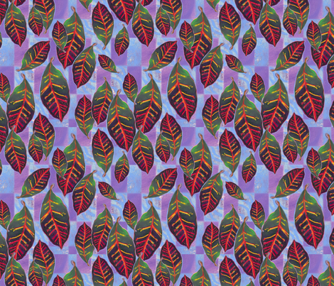 21x18leaf fabric by positivenegative on Spoonflower - custom fabric