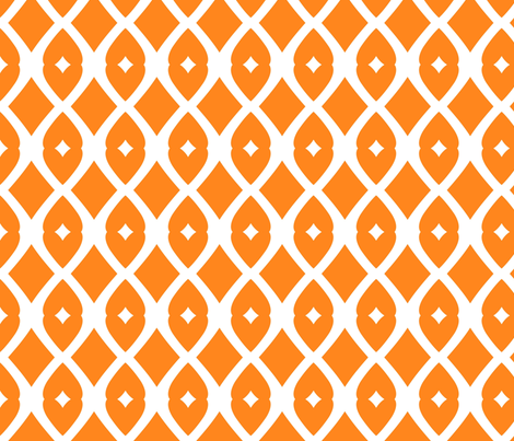Chain Link 22 (orange) fabric by pattyryboltdesigns on Spoonflower - custom fabric