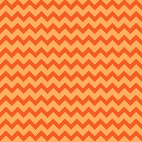 Ziggy Milo Tangerine fabric by natitys on Spoonflower - custom fabric
