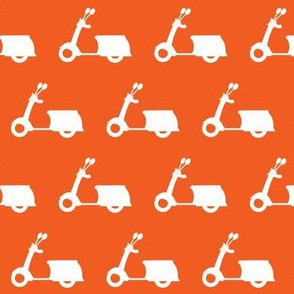 Scooters on Tangerine