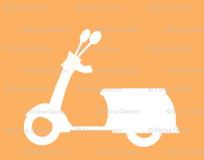 Scooters on Peach