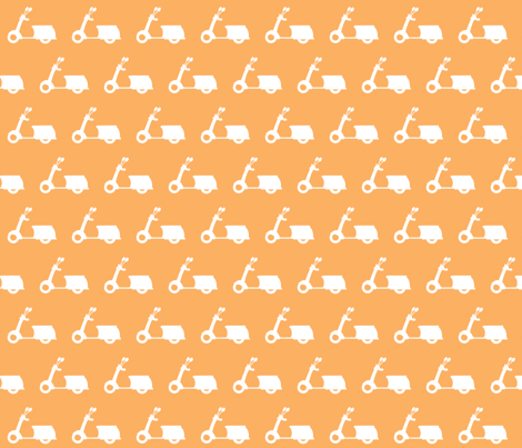 Scooters on Peach fabric by natitys on Spoonflower - custom fabric