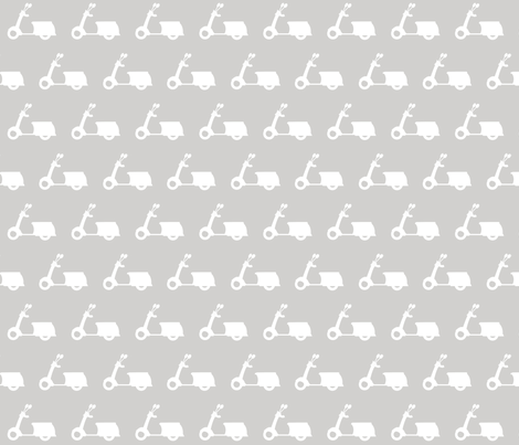 Scooters on Light Grey fabric by natitys on Spoonflower - custom fabric