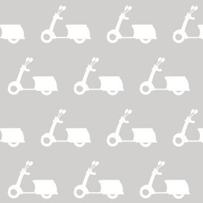 Scooters on Light Grey