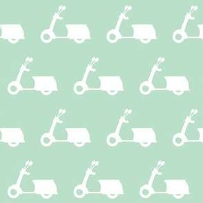Scooters on Light Mint