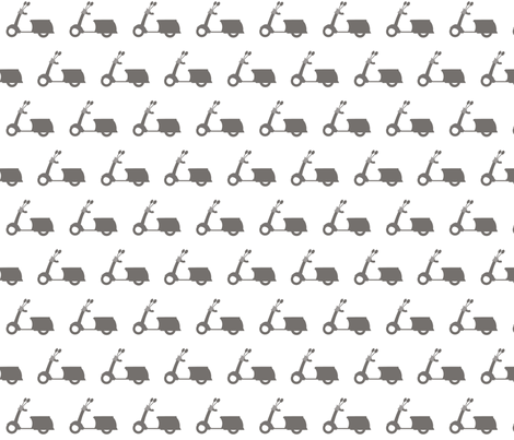 Grey Scooters on White fabric by natitys on Spoonflower - custom fabric