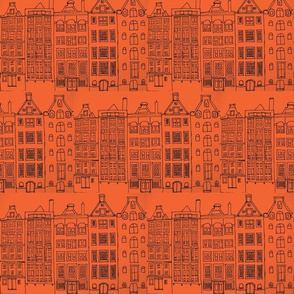 DutchHouses black on orange white-ch