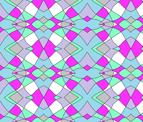 pastel kaleidoscope fabric by sterlingrun on Spoonflower - custom fabric