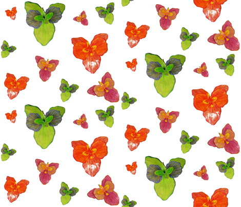 orchid sketch in 3D fabric by mainsail_studio on Spoonflower - custom fabric