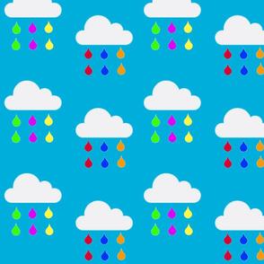 Rainbow Rain in Blue